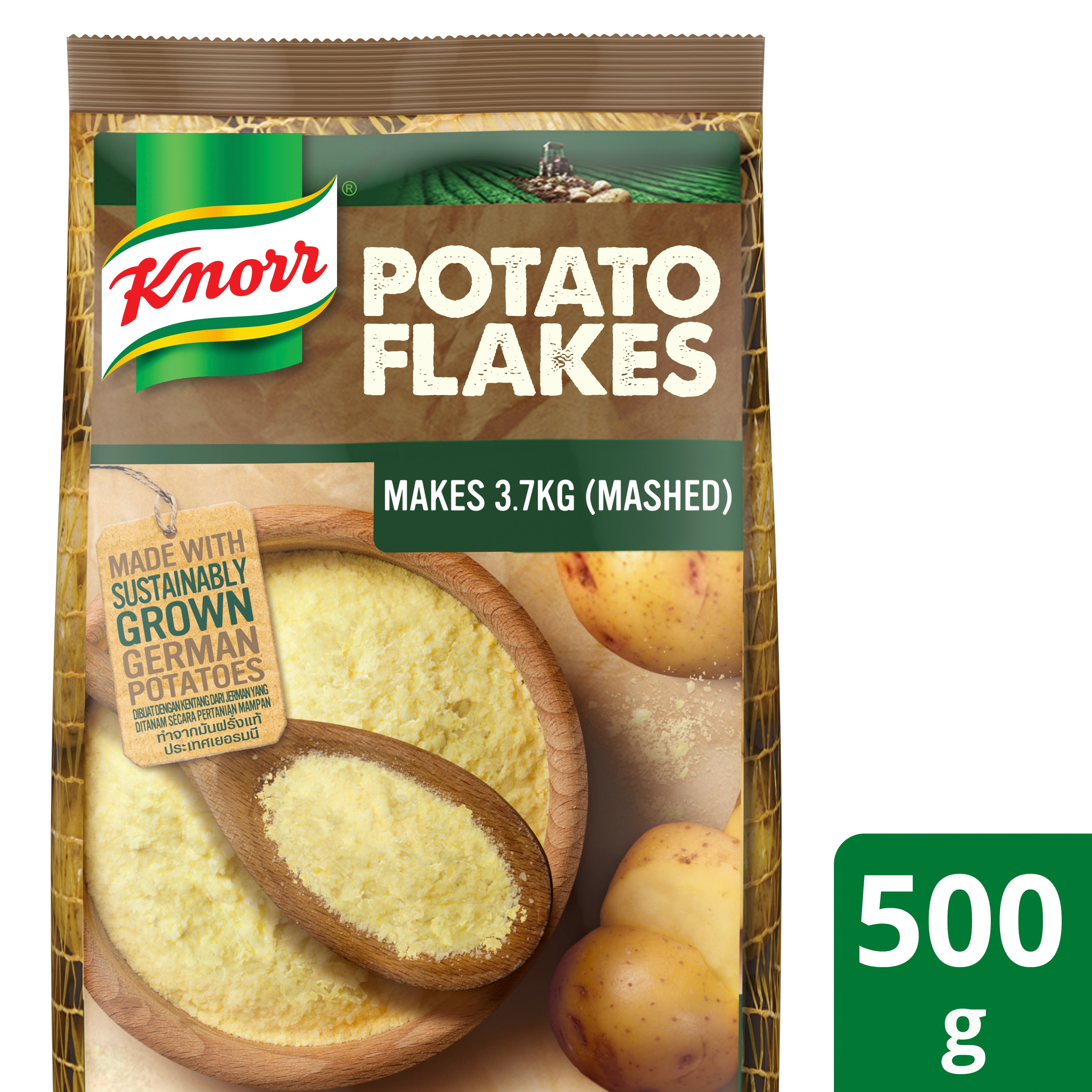 Knorr Potato Flakes 500g - Knorr Mashed Potato is an easy to use product that gives you consistently great tasting mashed potatoes every time.