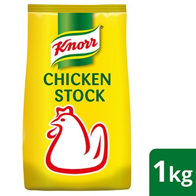 Knorr Chicken Stock 1kg - Knorr Chicken Stock delivers a consistent natural boost to any dish by elevating the freshness of the dish without masking.