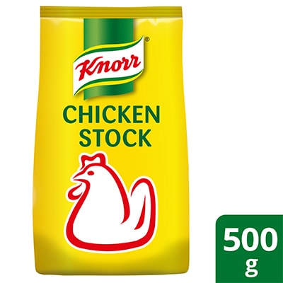 Knorr Chicken Stock 500g - Knorr Chicken Stock delivers a consistent natural boost to any dish by elevating the freshness of the dish without masking.