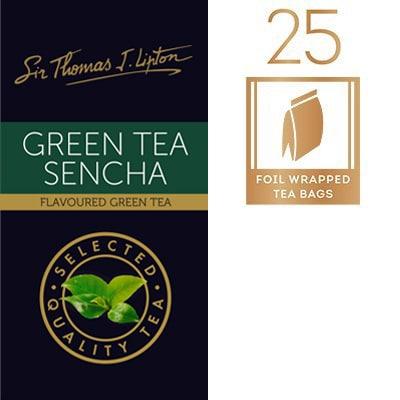 Sir Thomas Lipton Uncang Teh Hijau Celup Aroma Pir 1.6g - Teh hijau yang distim dengan rasa  flora yang halus.
