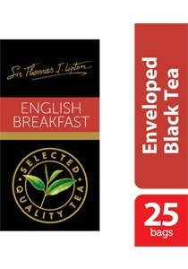 Sir Thomas Lipton English Breakfast Envelope Teabags 2.4g -