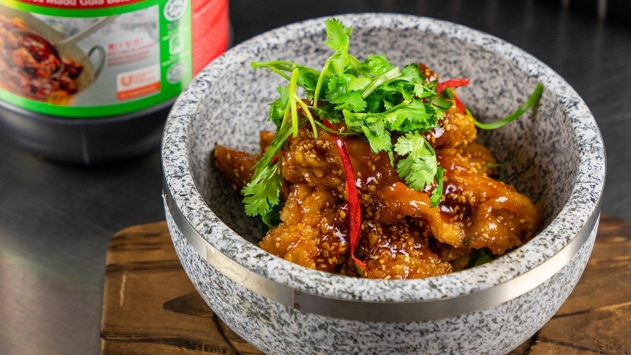 Chicken Chop dengan Sos Tapai Tauhu & Madu