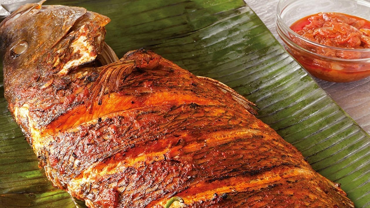 Baked Whole Snapper, Sambal Sauce