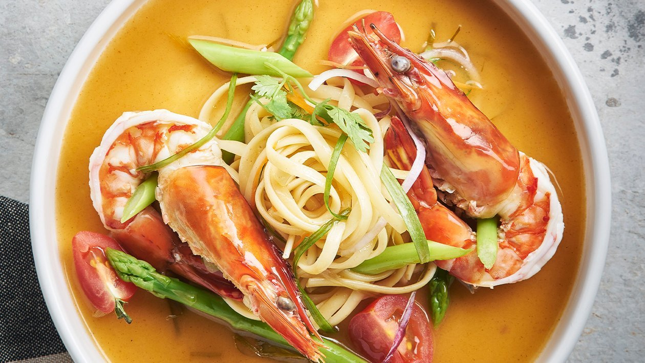 Asian-Touch Creamy Tom Yam Pasta