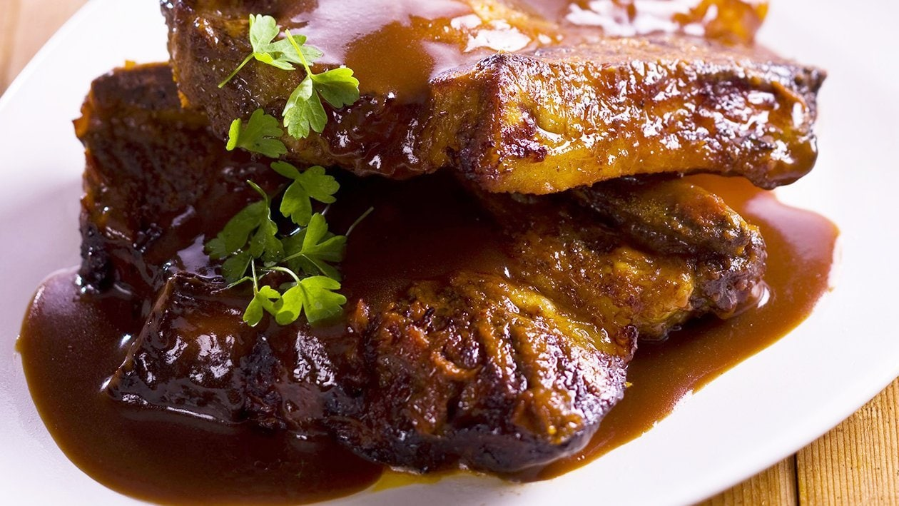 Spiced Beef Ribs With Chipotle sauce