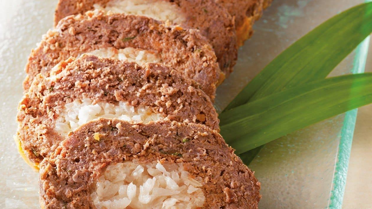 Roulade Kofta Rice with Aromatic Fruit Acar