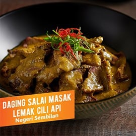 Beef in Coconut Chilli Curry (Daging Salai Masak Lemak Cili Api)