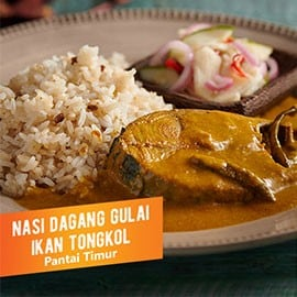 Nasi Dagang with Fish Curry (Nasi Dagang Gulai Ikan Tongkol)